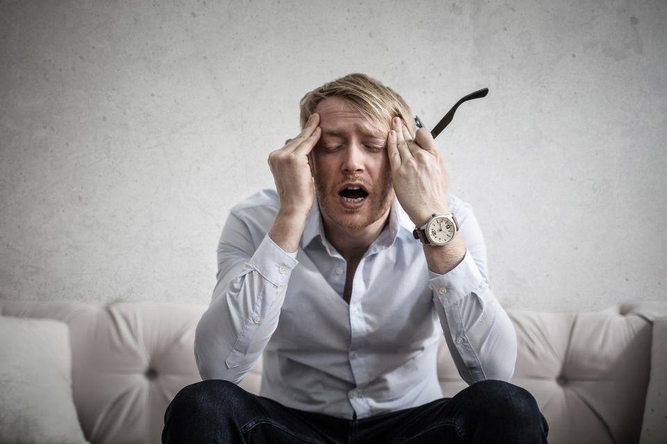 Man maakt zich zorgen en heeft stress